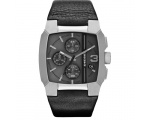 Diesel Cliffhanger Black Dial Black Leather Mens..