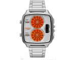 Diesel Analog-Digital Orange and Silver Dial Ste..