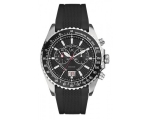 Guess Collection Mens Black Silver Watch I30005G1