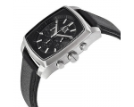 Armani Exchange Chronograph Black Dial Leather M..