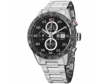 Tag Heuer Carrera Black Dial Stainless Steel Men..