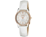 Accurist LS648 Ladies White Crystal Set Watch