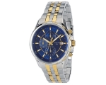 Accurist MB934N Mens Chrono Blue Face Two Tone W..