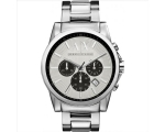 Armani Exchange Active Silver Dial Stainless Ste..