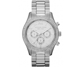 d56231202966 Michael Kors Watches MK5667 Ladies Silver Chronograph Watch
