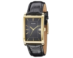 Accurist Watch MS892B mens Black Leather Gold Fa..