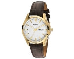 Accurist MS985 Brown Leather Starp Mens Watch