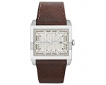 Armani Exchange AX Silver Dial Brown Leather Men..