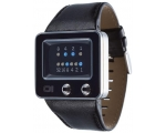 The One Watches TV102B1 Mens TV Black Leather St..