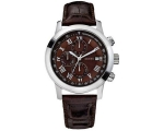 Guess Men's W13087G2 Steel Brown Leather Brown C..