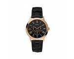 Guess Men's 'WAFER' Rose Gold Tone Black Dial Wa..