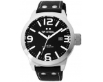 TW Steel Icon 50 MM Black Dial Black Leather Str..