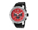 TW Steel Grandeur Tech 45mm Red Dial Chronograph..