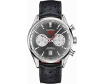 Tag Heuer Carrera Anthracite Black Leather Mens ..