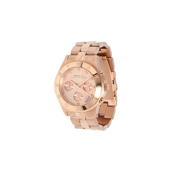Jacobs Watch Rose Gold Ladies Mbm3102 Chronograph Tone Blade Marc q34RA5jL
