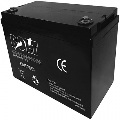 Bolt 12V/100Ah Deep Cycle Solar Rechargeable Battery