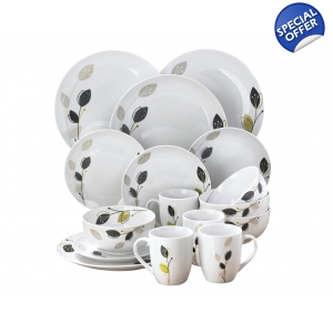 12-Piece Porcelain Dinner Set With 4 F..