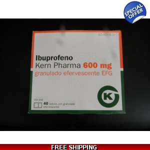 IBUPROFEN SACHETS 600mg 2 BOXES OF 40 sachets Powder
