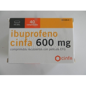 IBUPROFEN TABLETS 600mg 3 BOXES OF 40 TABLETS