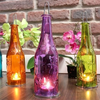 Recycled Bottle Lantern title=
