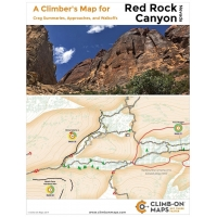 CLIMB-ON MAP - A Climber's Map for Red Rock Canyon