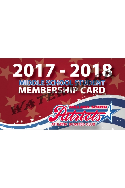 Middle School Booster Membership