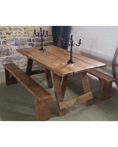 6ft Rustic Plank Bench hire £6.00 each