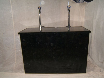 Black 5ft Bar Counter hire
