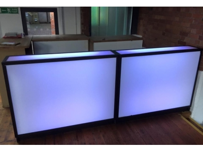 5ft Glow Bar Counter hire