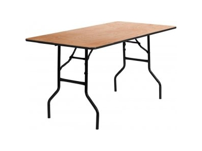 6ft x 3ft Trestle Table hire