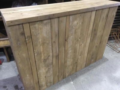 Rustic Plank Bar counter 6ft long