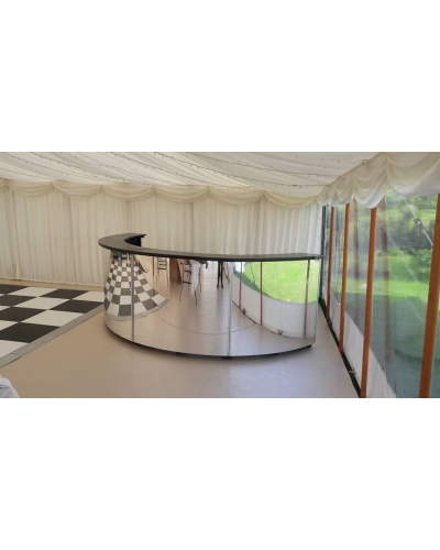 Half Round Mirror Bar hire