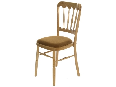 Natural Wood Banquet Chair hire