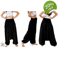 Black Baggy Jumpsuit Combination Harem Maternity..
