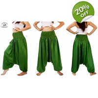 Green Romper Harem Combination Wear 2 Ways Pants..