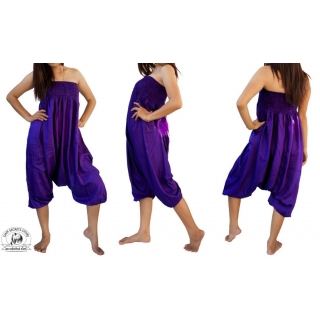 Purple Jumpsuit Harem P..