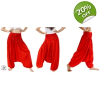 Red Baggy Harem Jumpsuit Perfect Pants for Dance..
