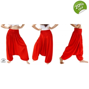 Red Baggy Harem Jumpsuit Perfect Pants for Dance to Maternity