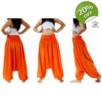 Orange Jumpsuit Romper Harem Pants for Dance to ..