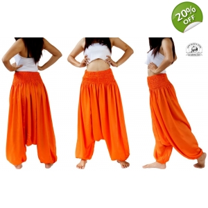 Orange Jumpsuit Romper Harem Pants for Dance to Maternity