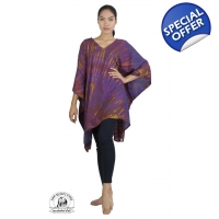 Purple Tie Dye Caftan Beach Coverup Hand Crafted..