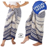 Thai Sarong with Elephant Design Summe..