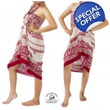 Maroon Sarong with Elephant Design Sum..