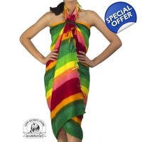 Rainbow Sarong Beach Wrap Pareo Dress Skirt or S..