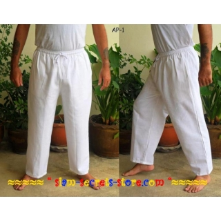 White Cotton Trousers P..