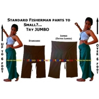 Jumbo Thai Fisherman Pants Extra Large Asian Wrap Trousers Extra Large
