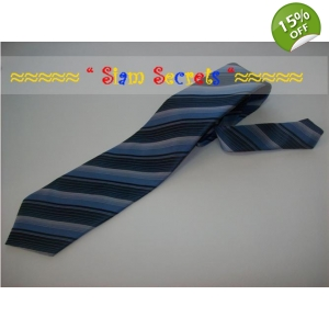 Dark Striped Thai Silk Mens Neck Tie Inexpensive Quality