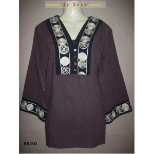 Osmoya Handmade Ladies Cotton Kurta top Blouse 3 Colours