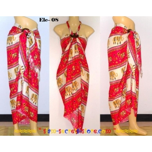 Ethnic Sarong Pareo Colorful Elephant Pattern 10 Beach Wrap Options
