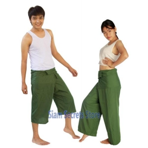 JUNGLE GREEN Yoga Wrap Trousers Fisher Pants 2 Length Options